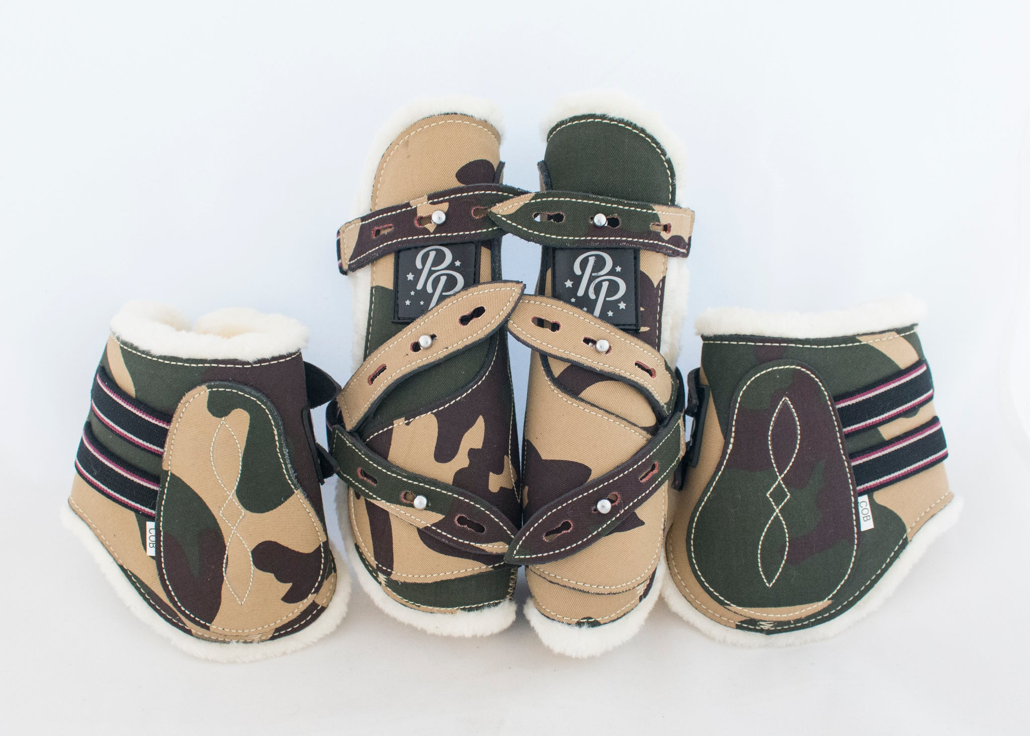 Camo Open Front Boots - Set of Four