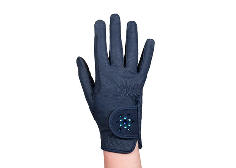 Navy Crystal Touchscreen Friendly Gloves