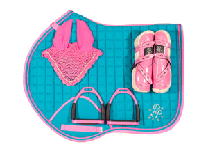 Turquoise/Pink Jump Set