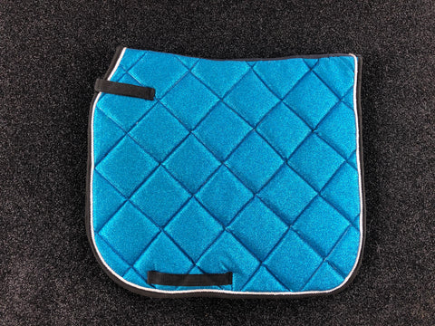 SECONDS Turquoise Glitter Dressage Saddle Pad
