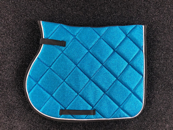 SECONDS Turquoise Glitter GP Saddle Pad