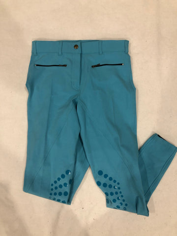 SAMPLE Light Turquoise/Sky Blue Breeches