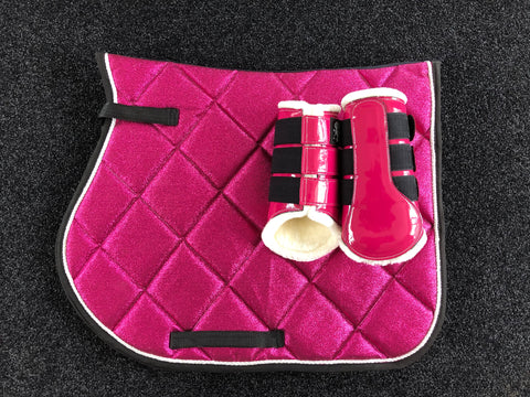 SECONDS Magenta Glitter GP Saddle Pad