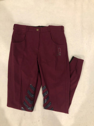 SAMPLE Burgundy Breeches