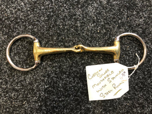 "SAMPLE 5.5"" German Silver Snaffle Bit"