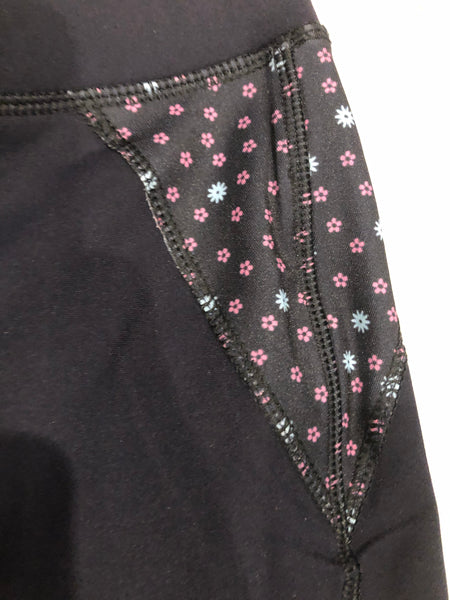 SAMPLE Black/Floral Riding Tights
