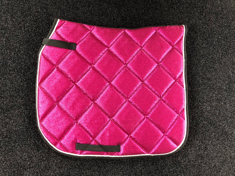 SECONDS Magenta Glitter Dressage Saddle Pad