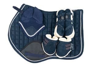 """Curacao"" Navy Suede Jump Set"