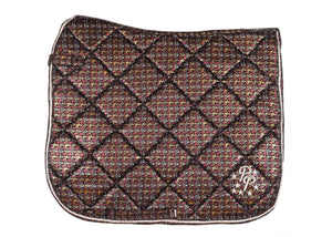 LE Paris Burgundy Suede Dressage Pad