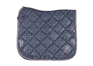 LE Paris Navy Suede Dressage Pad