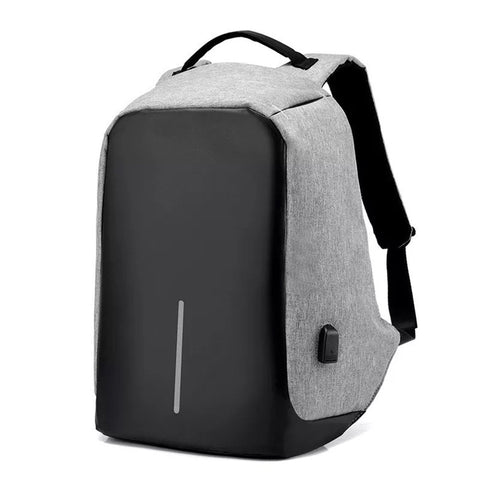 Bolt Grey Anti Theft Laptop Backpack Bag for Men & Women with Inbuilt USB Charging Point