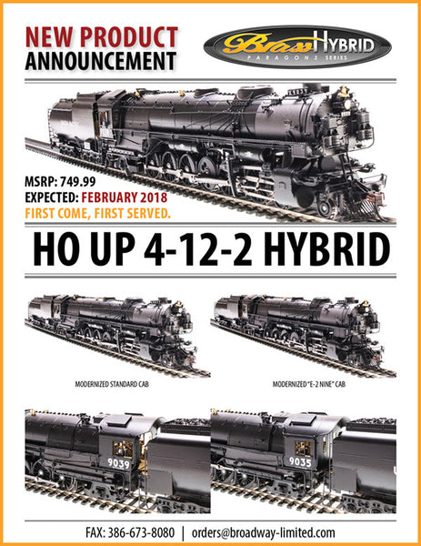 Broadway Limited Union Pacific 4-12-2 Brass Hybrid
