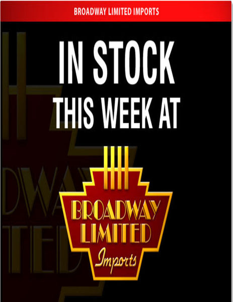 Broadway Limited In Stock List Jan 15 2018