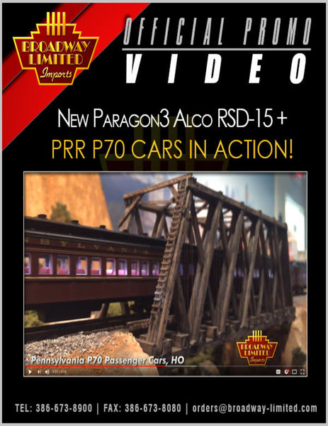 Broadway Limited HO Paragon3 Passenger Car - Video