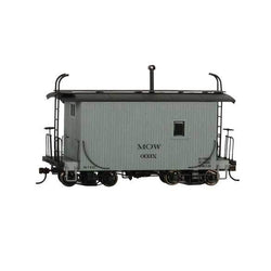On30 Bachmann 18' Wood Caboose - Gray