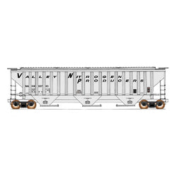 50' Double Boxcar - HO Intermountain #45297 4750 Cubic Foot Rib-Sided 3-Bay Hopper Valley Nitrogen