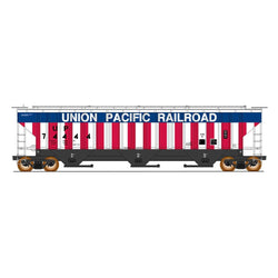 50' Double Boxcar - HO Intermountain #453102 4750 Cubic Foot Rib-Sided 3-Bay Hopper UP