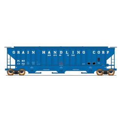 50' Double Boxcar - HO Intermountain #453106 4750 Cubic Foot Rib-Sided 3-Bay Hopper Grain Handling Corp