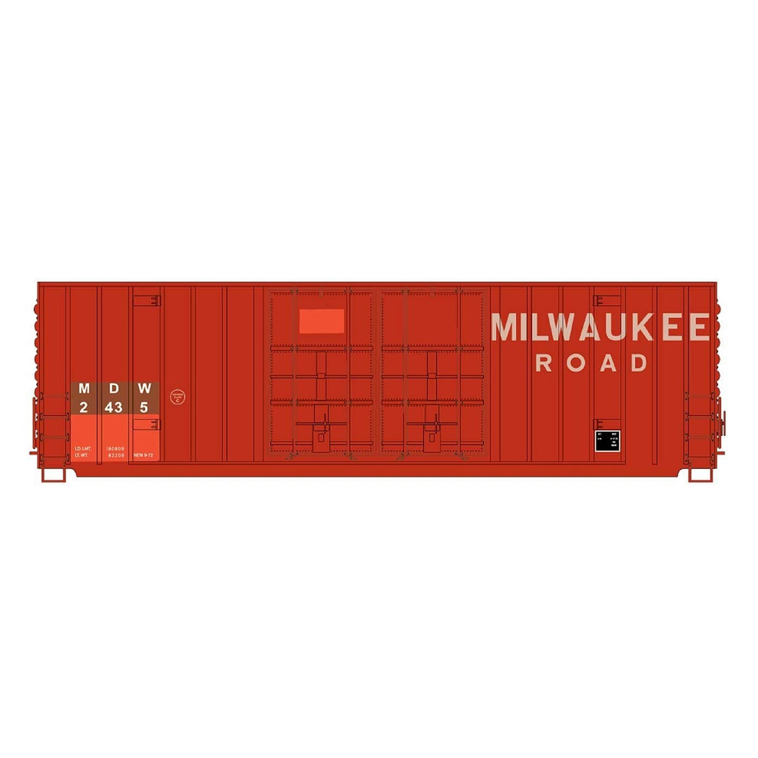 50' Double Boxcar - Intermountain #4133005 HO Gunderson 50' High Cube Double Door Boxcar Minnesota, Dakota & Western
