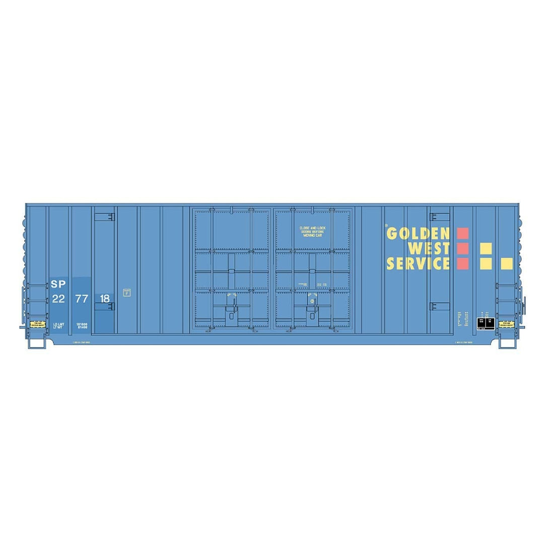 50' Double Boxcar - Intermountain #4133010 HO Gunderson 50' High Cube Double Door Boxcar Golden West Service