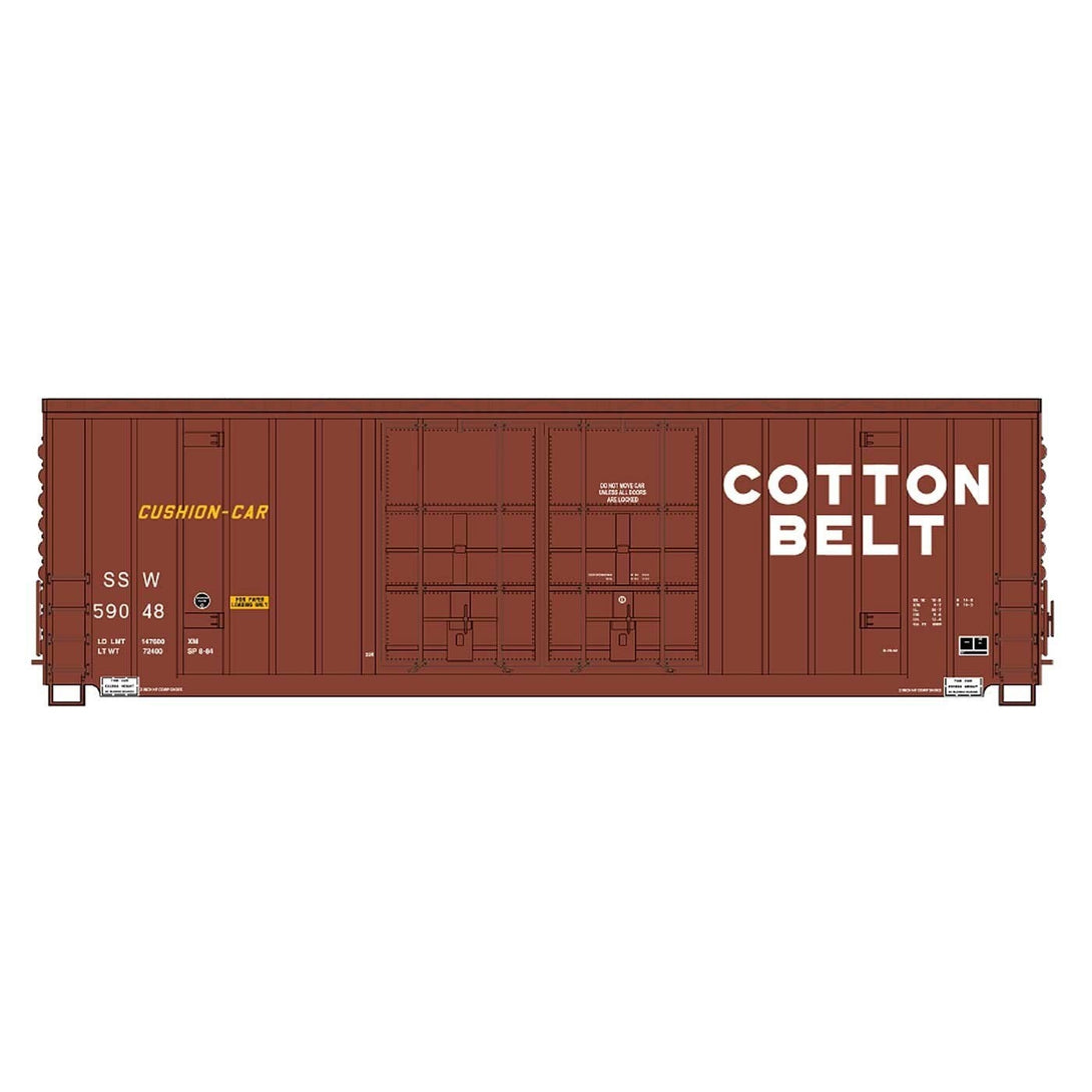 50' Double Boxcar - Intermountain #4134003 HO Gunderson 50' High Cube Dble Door Peak Roof Cotton Belt