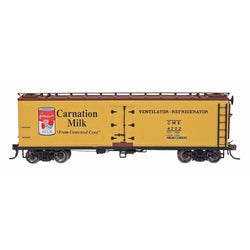FGE Wood Refrigerator Car - HO Intermountain #47722 -07 FGE Wood Reefer Carnation Milk #6402