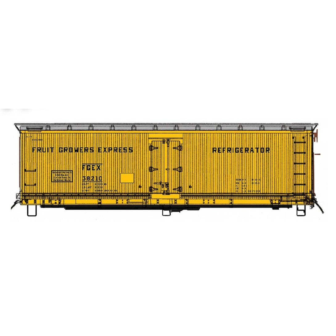 FGE Wood Refrigerator Car - HO Intermountain #47737 FGE Wood Refrigerator Car FGE Chesapeake & Ohio