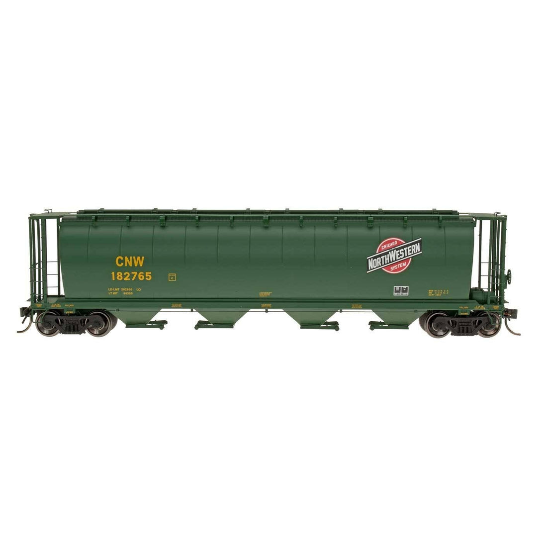 HO Hopper - HO Intermountain #45124 Cylindrical Covered Hopper Chicago North Western