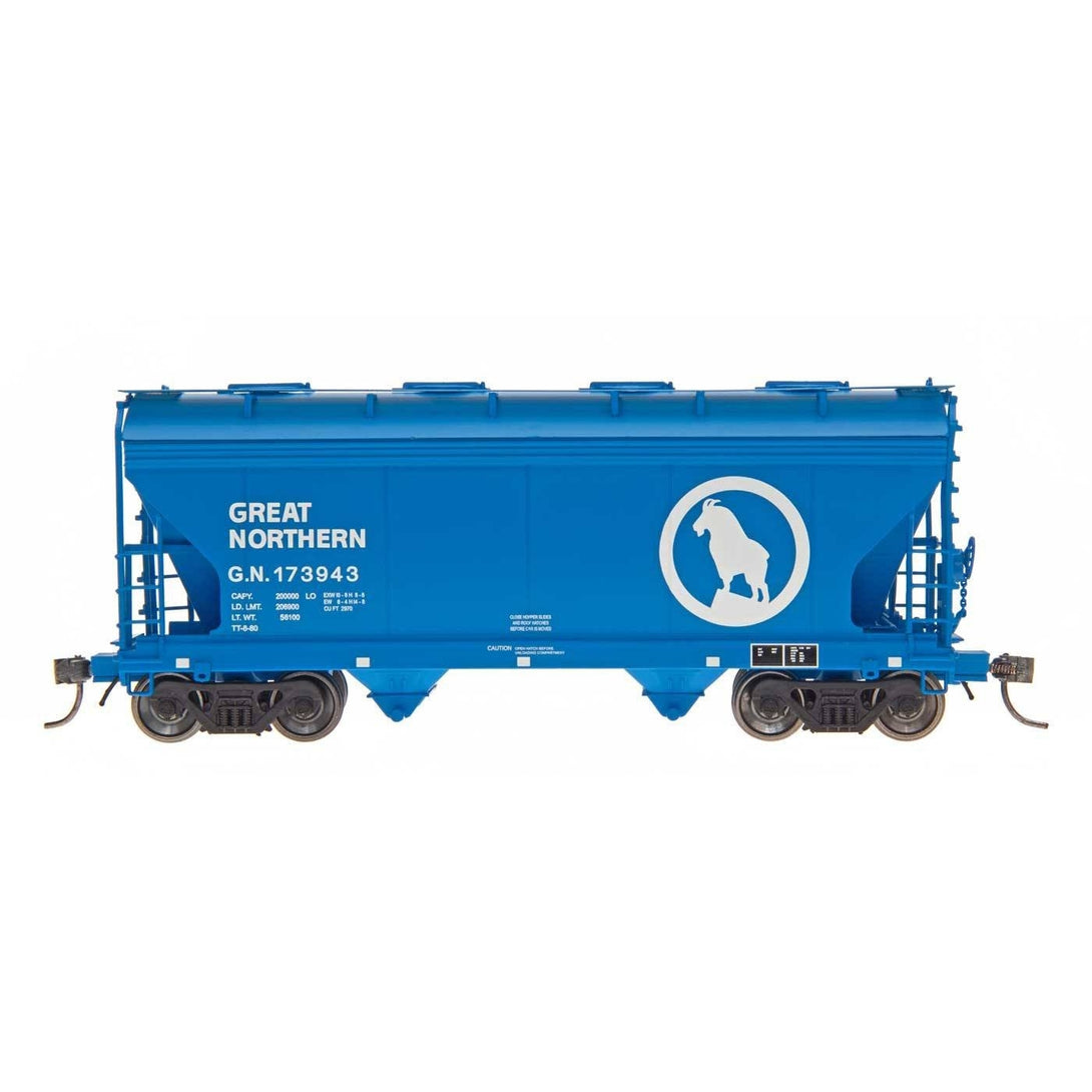 HO Hopper - HO Intermountain #46531 -10 ACF Centre Flow 2-Bay Hopper Great Northern #173922