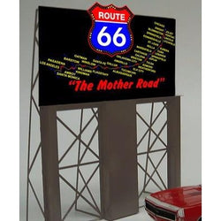 HO/O Billboard - Route 66 The Mother Road - Miller Engineering Animated Billboard #5061 HO/O