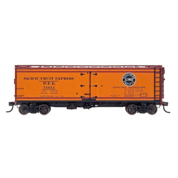 PFE Wood Refrigerator Reserve - Intermountain #47402 HO PFE Wood Refrigerator - Stripe Southern Pacific & Union Pacific