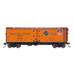 PFE Wood Refrigerator Reserve - Intermountain #47403 HO PFE Wood Refrigerator Car - Double Herald SP & UP