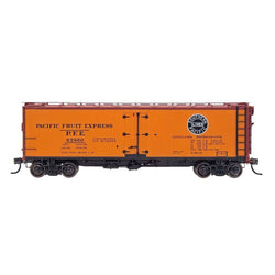 PFE Wood Refrigerator Reserve - Intermountain #47410 HO PFE Wood Refrigerator Car - Single Herald