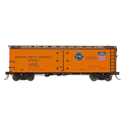 Refrigerator Car - HO Intermountain #46702 R-40-10 Refrigerator Car PFE Double Herald SP&UP