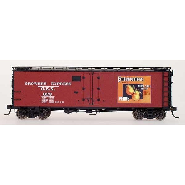Yesteryear - HO Intermountain # Y4205-01 G.E.X Yesteryear Billboard Refrigerator Car Embarcadero Pears