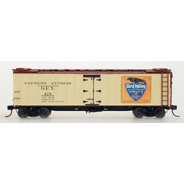 Yesteryear - HO Intermountain # Y4904BV-01 G.E.X Yesteryear Billboard Refrigerator Car Bird Valley Apples
