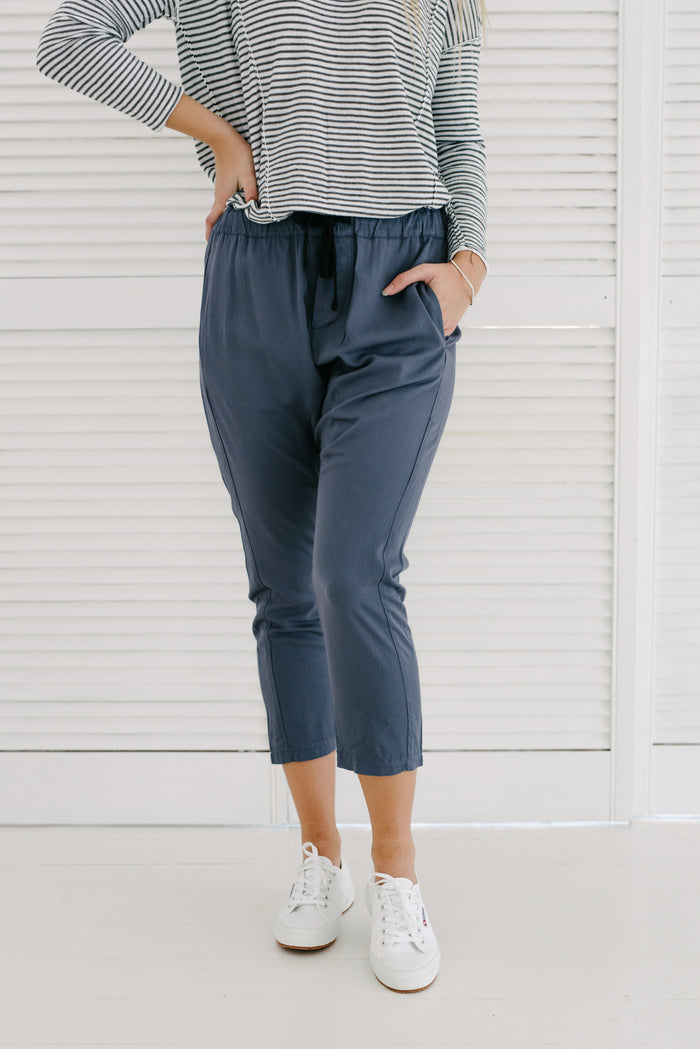 Axel Pants | Slate Blue| Pants | Betty Lane Womens Clothing Victoria