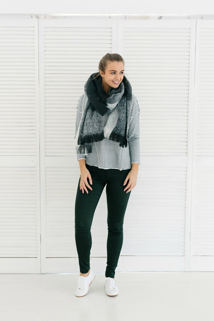 Paterson Scarf - Grey| Scarf | Betty Lane Womens Clothing Victoria