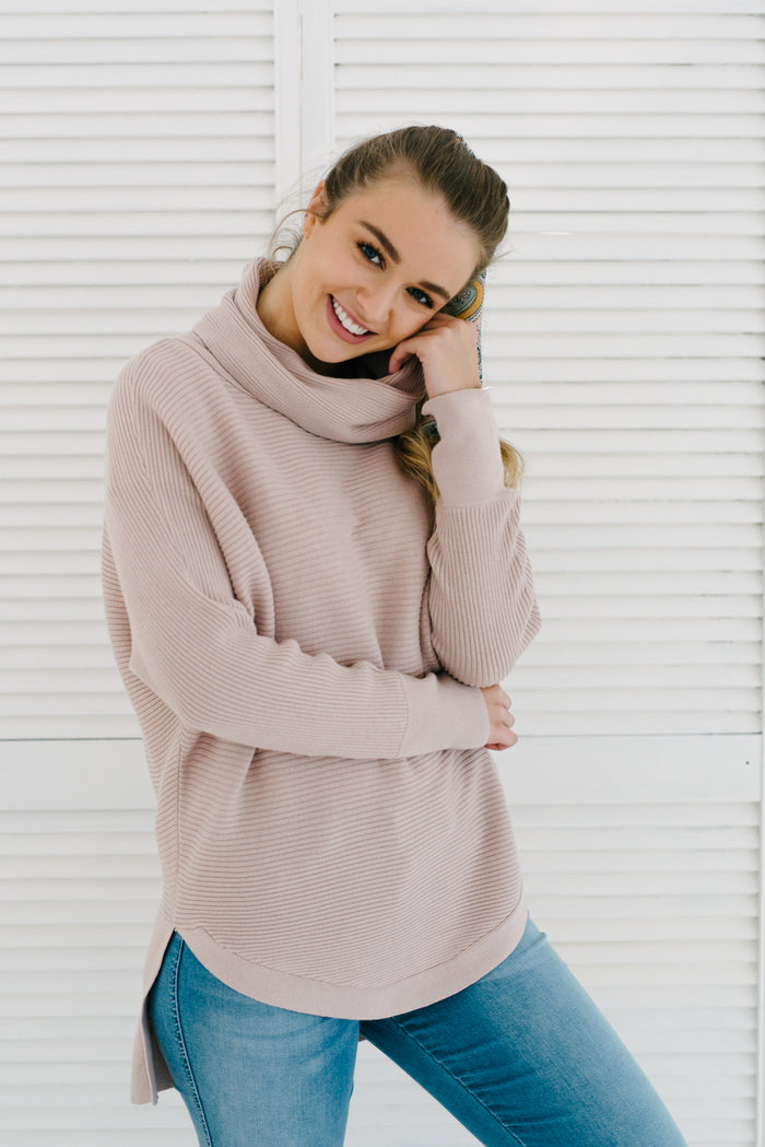 Ella Knit - Blush| Knitwear | Betty Lane Womens Clothing Victoria