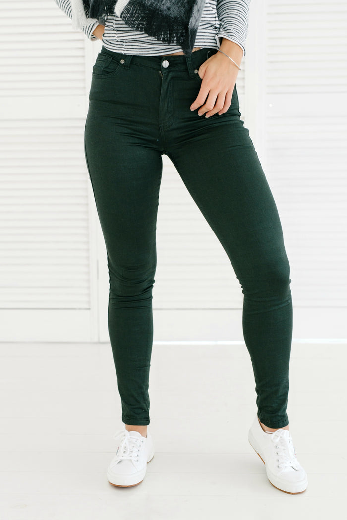Penny Pins - Forest Green| Jeans | Betty Lane Womens Clothing Victoria