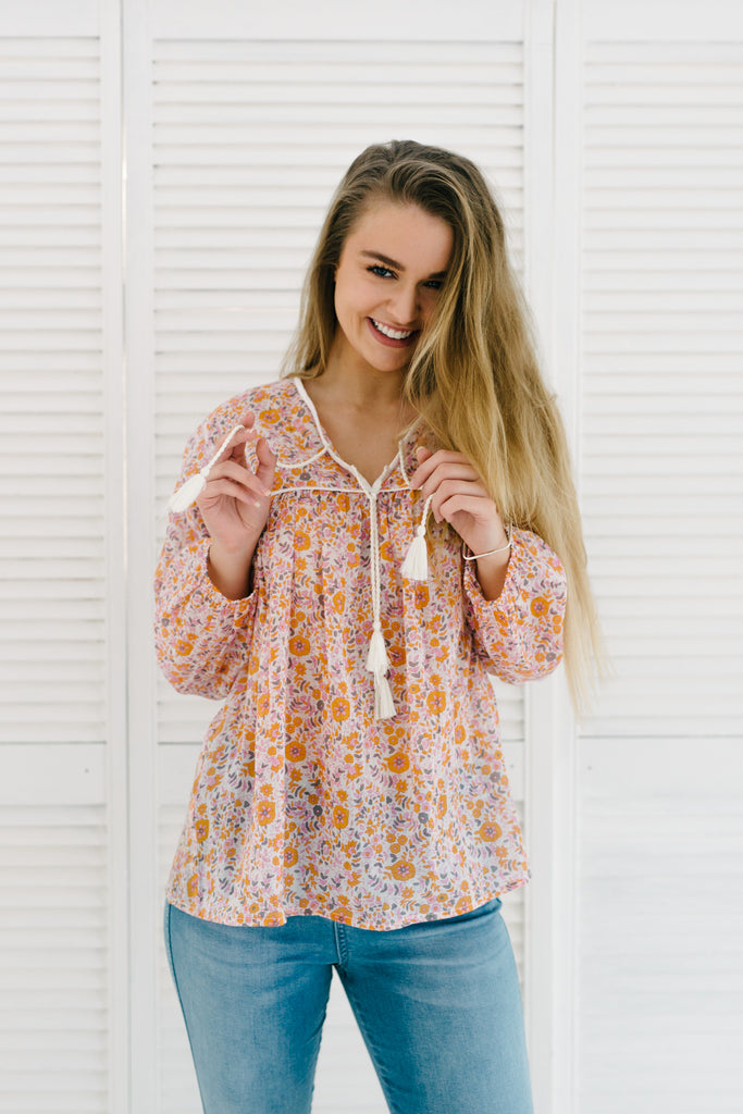 Gypsy Top - Daisy Print|  | Betty Lane Womens Clothing Victoria