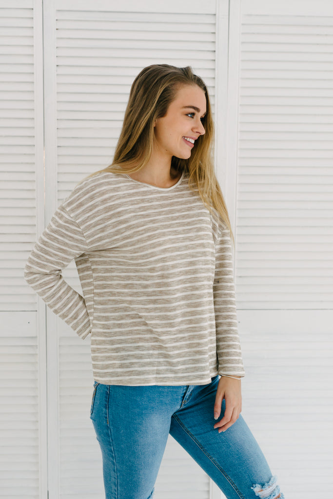 Felicity Top - Latte| Basics | Betty Lane Womens Clothing Victoria
