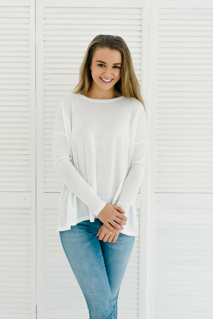Claire Long Sleeve Top|  | Betty Lane Womens Clothing Victoria