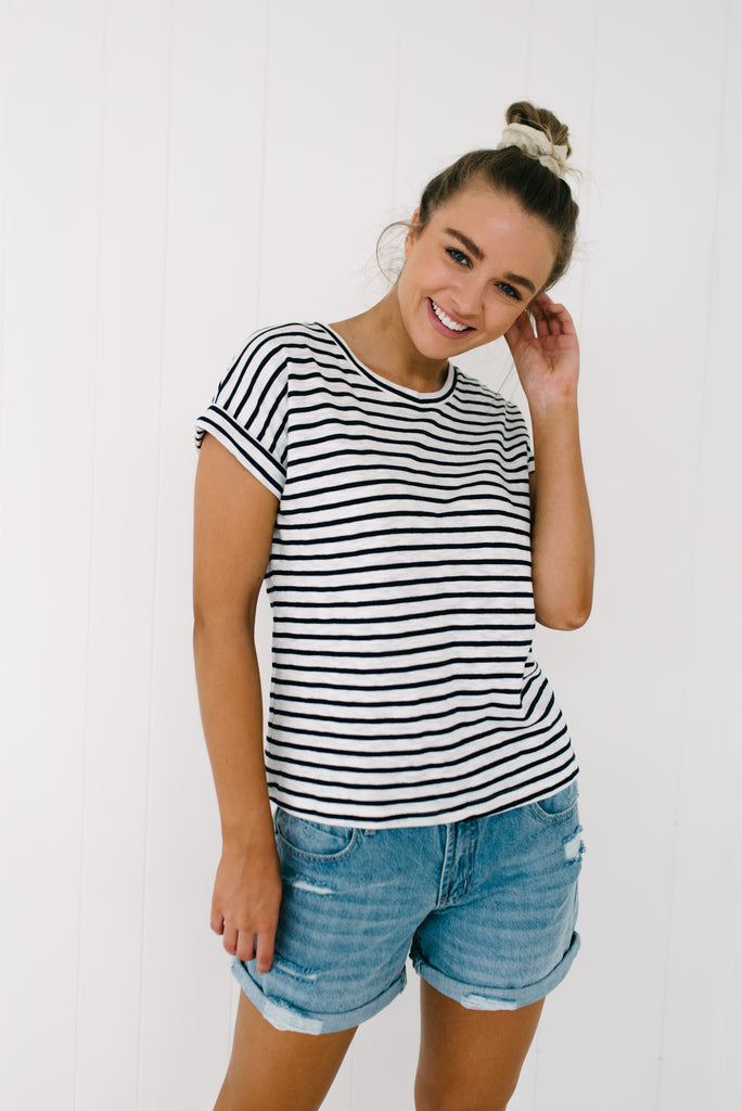 Oscar Tee - Navy|  | Betty Lane Womens Clothing Victoria
