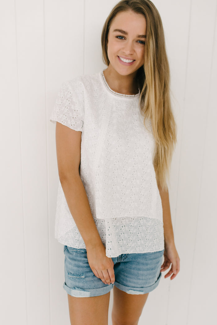 Alice Lace Top| Summer | Betty Lane Womens Clothing Victoria