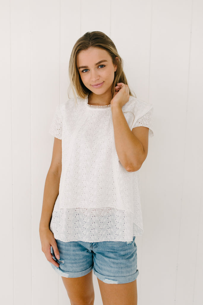 Alice Lace Top|  | Betty Lane Womens Clothing Victoria
