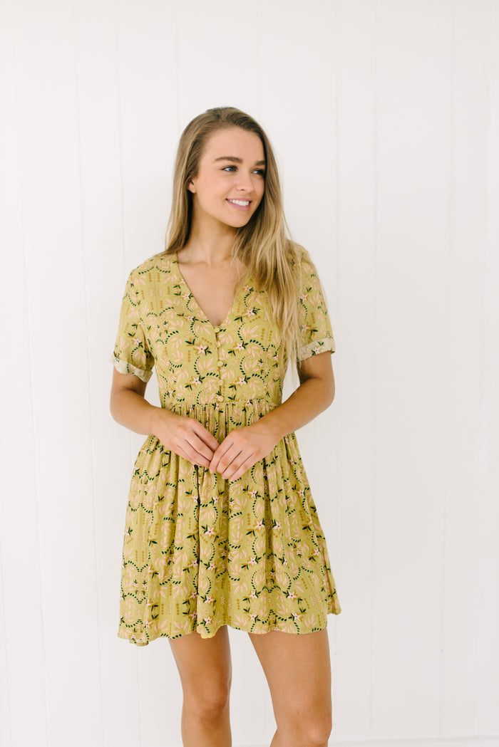 Womens floral tea dress