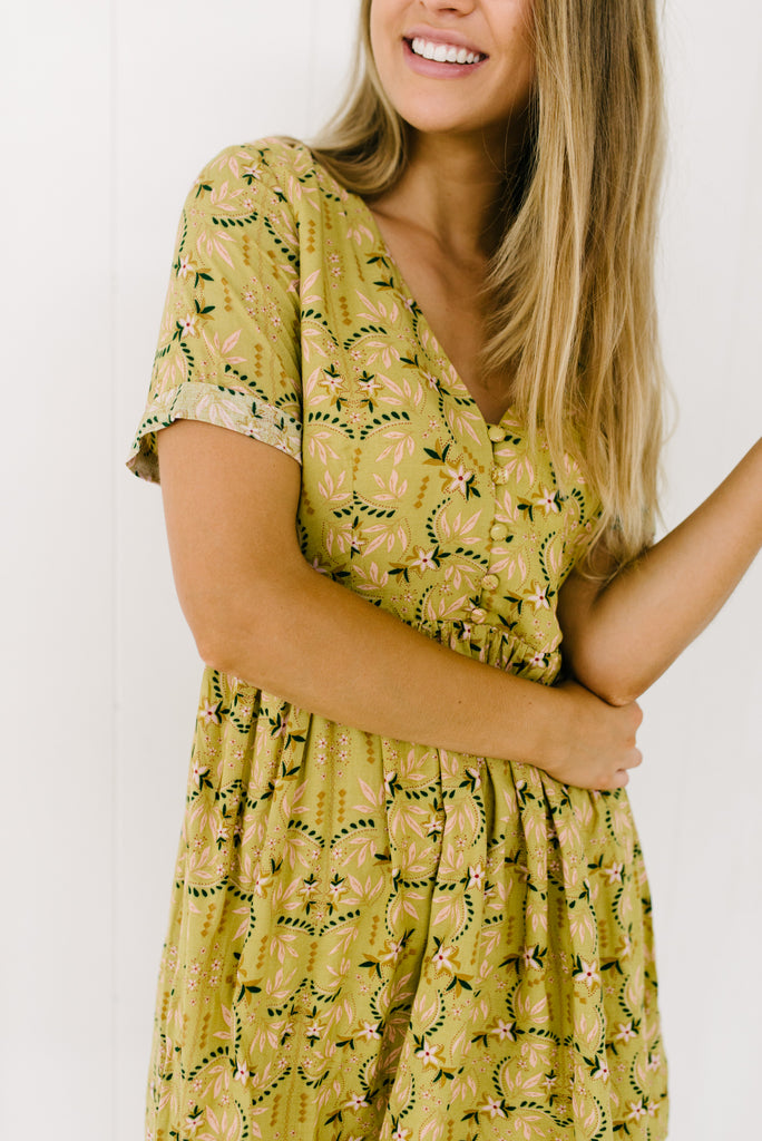 Betty Lane mustard floral sundress