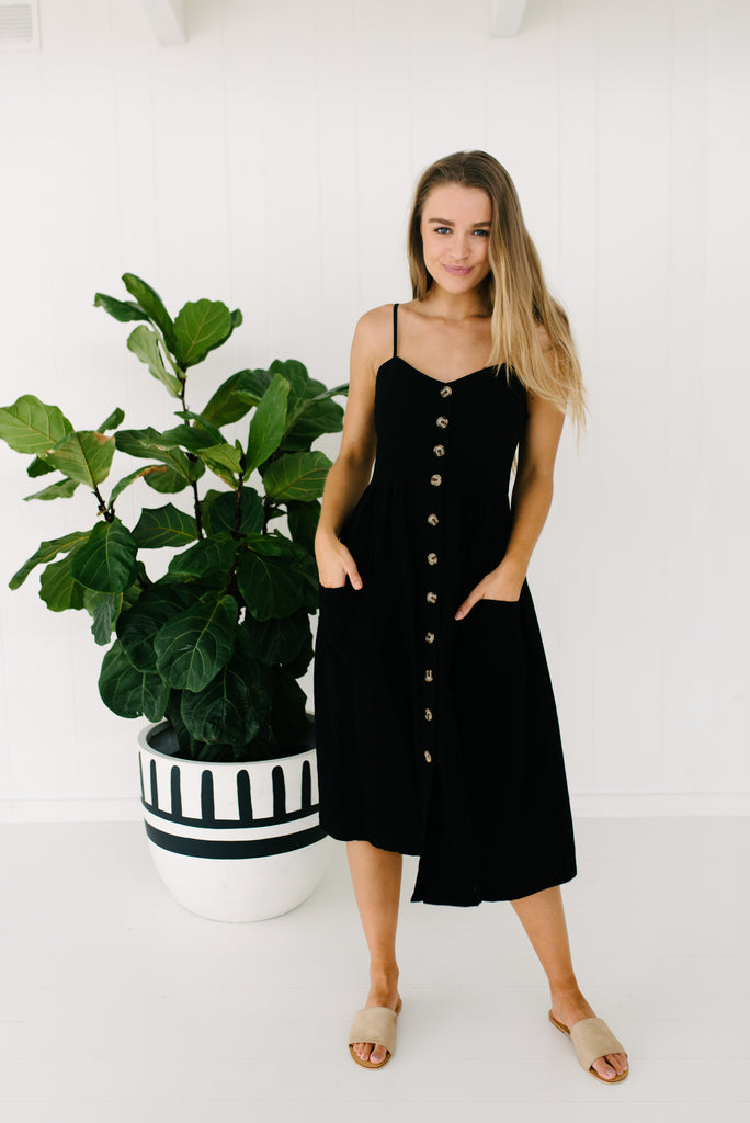 Sandy Dress - Black|  | Betty Lane Womens Clothing Victoria