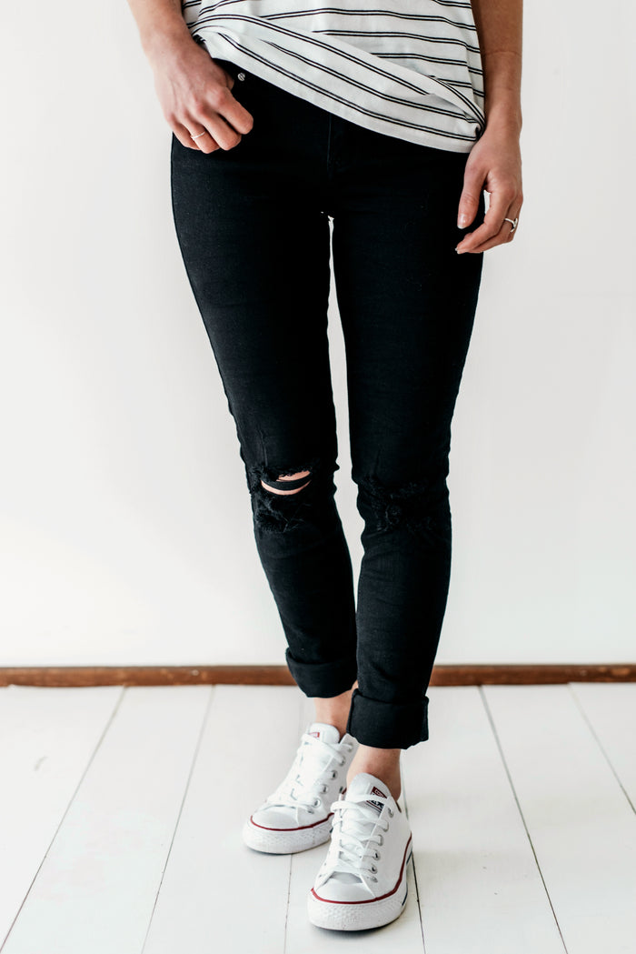 Bowie Jeans - Black Rips| Jeans | Betty Lane Womens Clothing Victoria